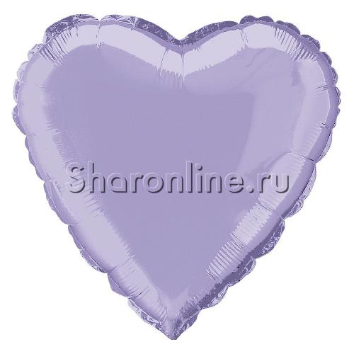 Фото №1: Шар Сердце Сиреневое 46 см