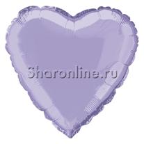Шар Сердце Сиреневое 46 см