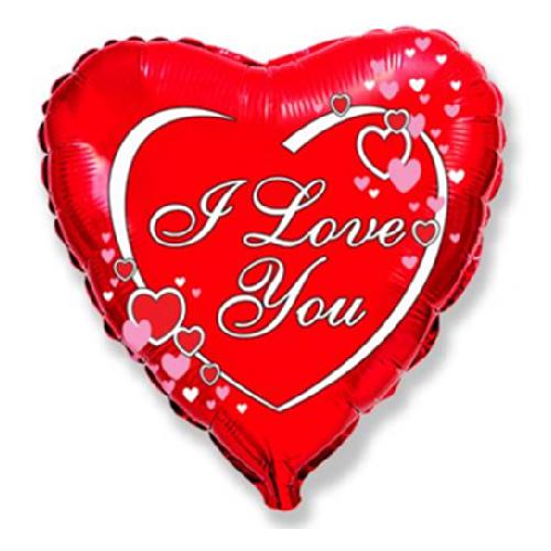 """Фото №1: Шар из фольги Сердце """"Влюбленные сердца"""" 46 см"""