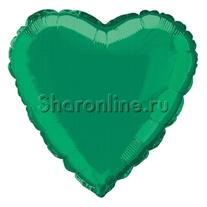 "Шар ""Сердце"" зеленое 46 см"