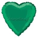 """Фото №1: Шар """"Сердце"""" зеленое 46 см"""