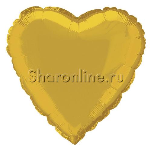 Фото №1: Шар Сердце золото 46 см