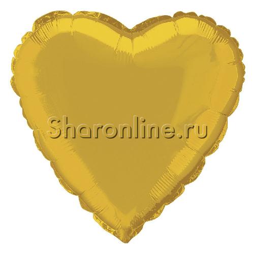 Фото №1: Шар Сердце золотое 81 см