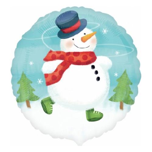 """Фото №1: Шар """"Снеговик с шарфом"""" 46 см"""
