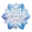 "Фото №1: Шар ""Снежинка голубая"" 45 см"