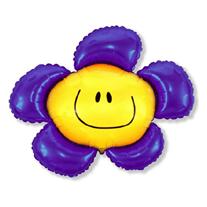 """Шар """"Солнечная улыбка"""" фиолетовый 102 см"""