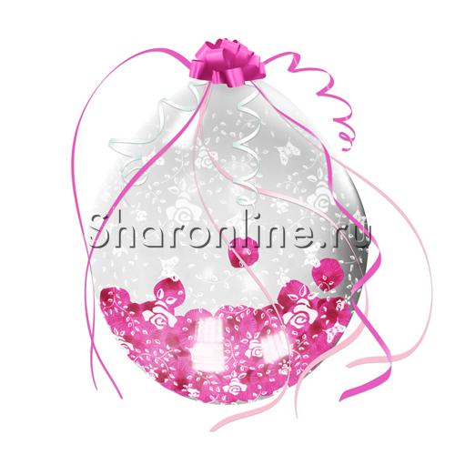 """Фото №1: Шар сюрприз """"Лепестки роз"""" 45 см"""