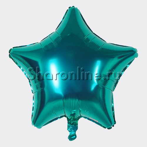 Фото №1: Шар Звезда Бирюзовая 46 см