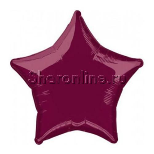 Фото №1: Шар Звезда бургундия 46 см
