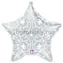 Фото №1: Шар Звезда Филигранная серебро 53 см