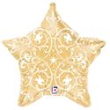 Фото №1: Шар Звезда Филигранная золото 53 см