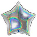 Фото №1: Шар Звезда Голография серебро 46 см