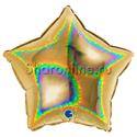 Фото №1: Шар Звезда Голография золото 46 см