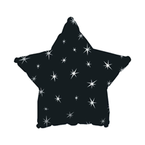 Шар Звезда Искры черный 46 см