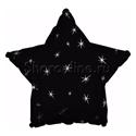 Фото №1: Шар Звезда Искры черный 46 см
