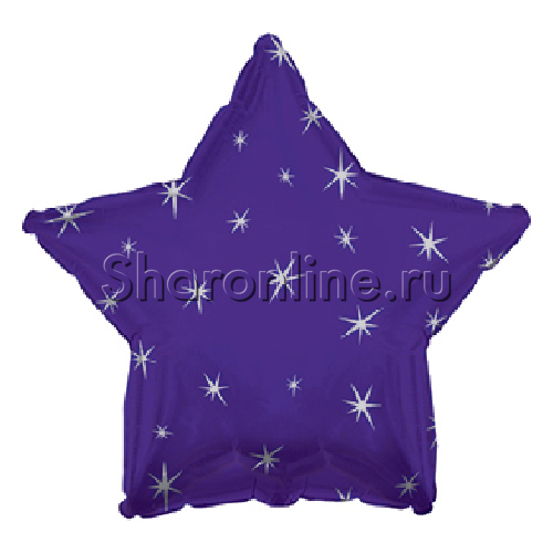 Фото №1: Фиолетовый шар Звезда Искры