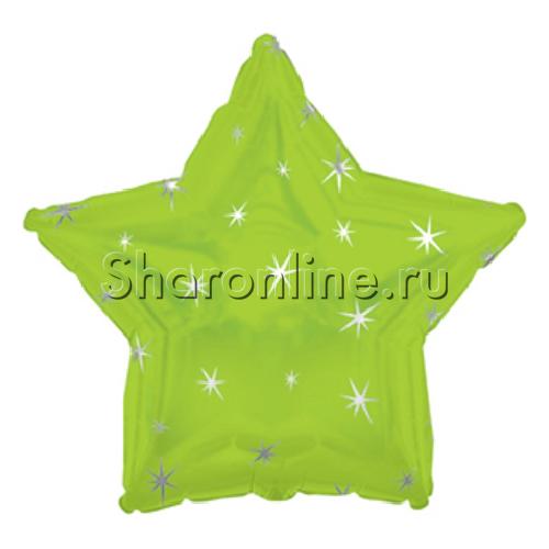 Фото №1: Звезда Искры лайм 46 см