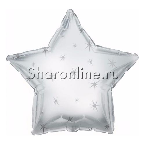 Фото №1: Шар Звезда Искры серебро 46 см