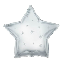 Шар Звезда Искры серебро 46 см