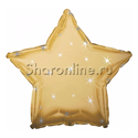 Фото №1: Золотой шар Звезда Искры - 46 см