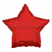 Шар Звезда красная 46 см