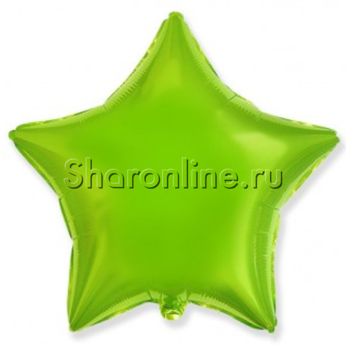 Фото №1: Шар Звезда лайм 46 см