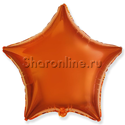 Фото №1: Оранжевый шар «Звезда» - 46 см