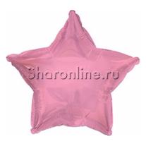 Шар Звезда розовая 46 см