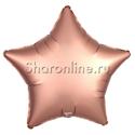 Фото №1: Шар Звезда Розовое золото сатин 53 см