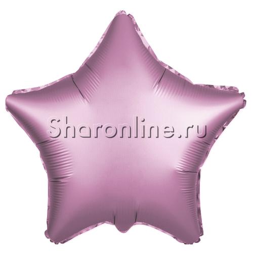 Фото №1: Шар Звезда Розовая сатин 53 см