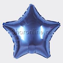 Шар Звезда синяя 46 см