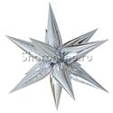 Фото №1: Шар Звезда составная серебряная 66 см
