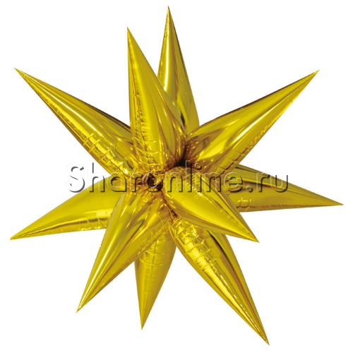 Фото №1: Шар Звезда составная золотая 66 см