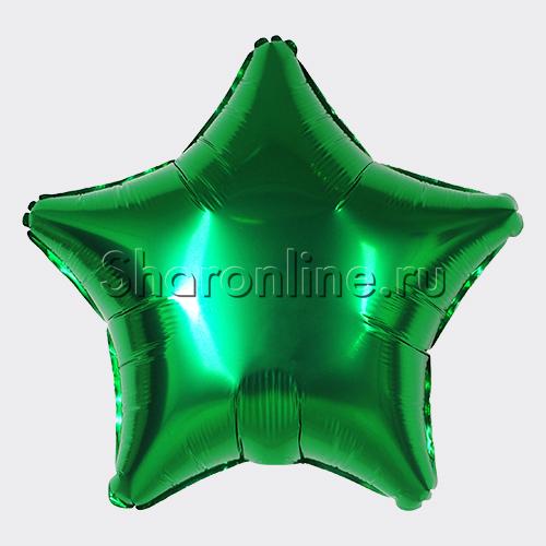 Фото №1: Шар Звезда зеленая 46 см