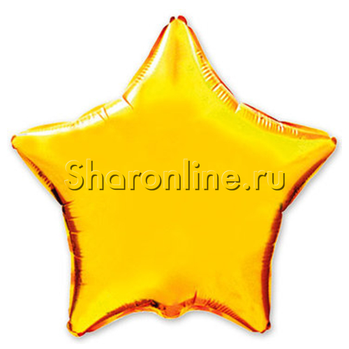 Фото №1: Шар Звезда золотая 46 см