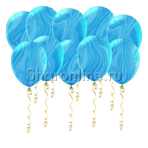 Фото №1: Мраморные сине-голубые шары