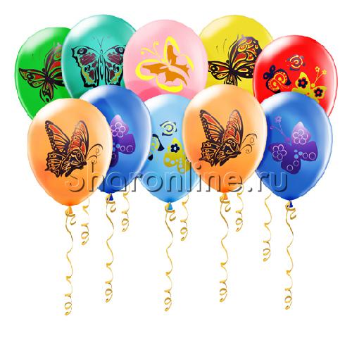 """Фото №1: Шары """"Бабочки"""""""