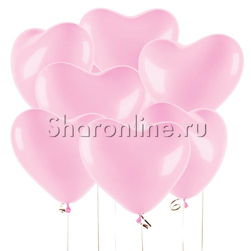 Фото №1: Шары под потолок в виде Сердца Премиум Розовые 41 см