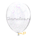 Фото №2: Шары с белым голографическим конфетти
