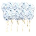 Фото №1: Шары с голубым голографическим конфетти