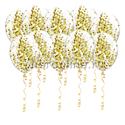 Фото №1: Шарики с круглым золотым конфетти