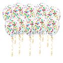 Фото №1: Шары с разноцветными конфетти