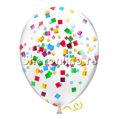 Фото №2: Шары с разноцветными конфетти