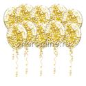 Фото №1: Шары с квадратным золотым конфетти
