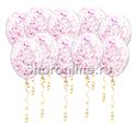 Фото №1: Шары с малиновым голографическим конфетти