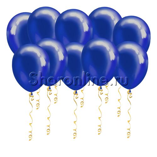 Фото №1: Синие шары металлик