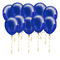 Синие шары металлик