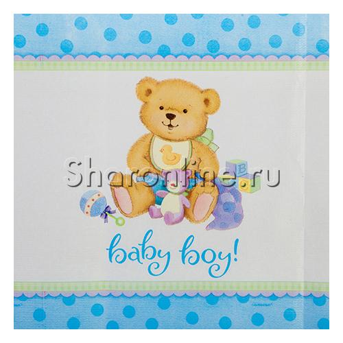 """Фото №1: Скатерть """"Baby Boy"""" Медвежонок мальчик, 140х260 см"""