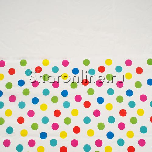 """Фото №1: Скатерть """"Горошек разноцветный"""" 130х180 см"""