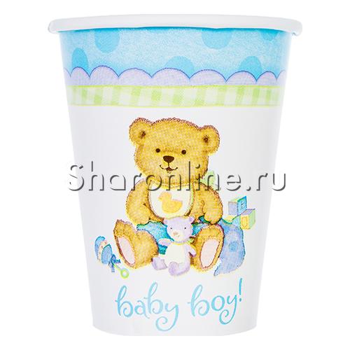 "Фото №1: Стаканчики ""Baby Boy"" Медвежонок мальчик 190мл 6шт"